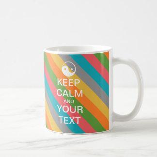"Create Your Own Yin-Yang ""KEEP CALM"" Mug! Coffee Mug"