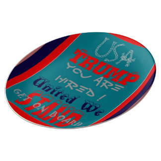 Create Your Own You Are Hired United We Stand Plate
