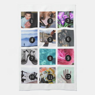 Create Your Photo Style 12 images Kitchen Towel