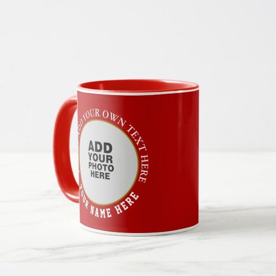 create your special two images red mug