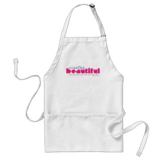 Created Beautiful (by God) ladies Christian apron