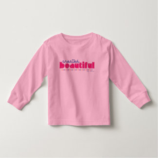 Created Beautiful (by God) toddler long t-shirt