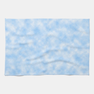 Created Blue and White Clouds Design Kitchen Towel