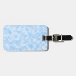 Created Blue and White Clouds Design Luggage Tag