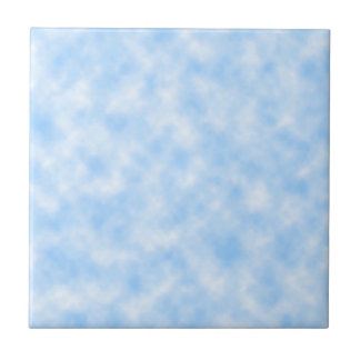 Created Blue and White Clouds Design Tile