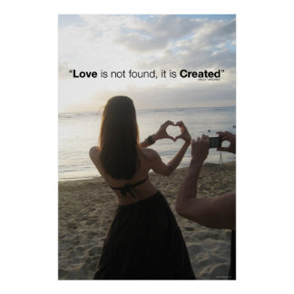 Created Love Poster