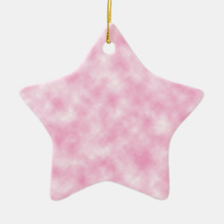 Created Pink Clouds Design on Star Shape Ceramic Star Ornament