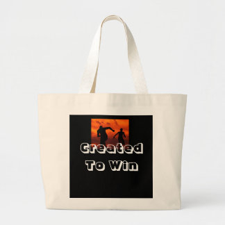 CREATED TO WIN LARGE TOTE BAG