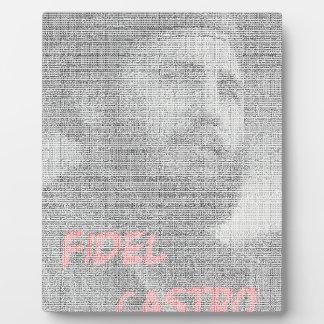Created with the word Fidel Alejandro Castro Ruz. Plaque