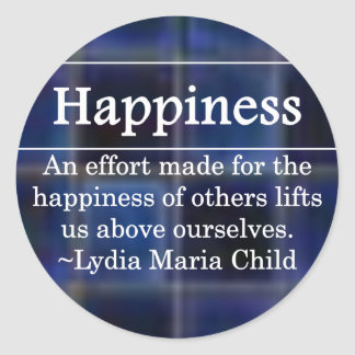 Creating Happiness for Others Round Sticker