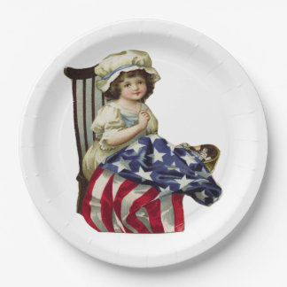 Creating the Flag 9 Inch Paper Plate