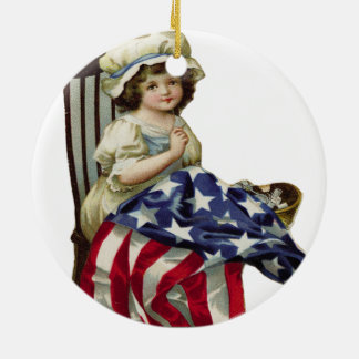 Creating the Flag Round Ceramic Ornament