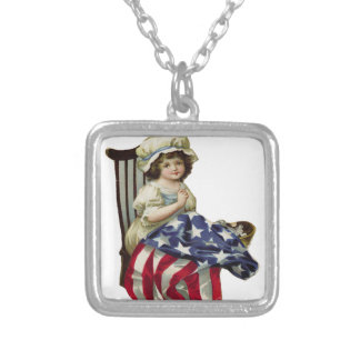 Creating the Flag Silver Plated Necklace