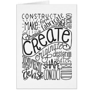 Creation Motivation Card