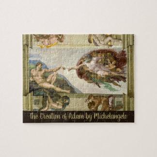 Creation of Adam by Michelangelo, Vintage Fine Art Jigsaw Puzzle
