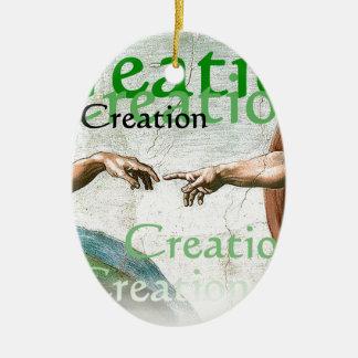 Creation of Adam Ceramic Oval Ornament