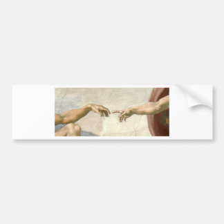 Creation of Adam Hands - Michelangelo Bumper Sticker