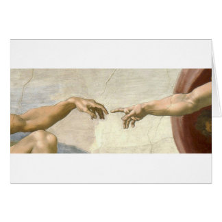 Creation of Adam Hands - Michelangelo Card