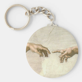 Creation of Adam Hands - Michelangelo Keychain