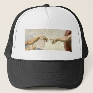 Creation of Adam Hands - Michelangelo Trucker Hat