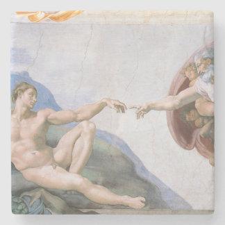 Creation of Adam Michelangelo stone coaster