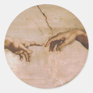 Creation of Adam Round Sticker
