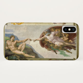 Creation of Man by Michelangelo, Vintage Fine Art Case-Mate iPhone Case