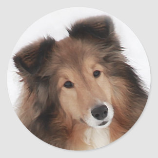 Creation of Shelties Classic Round Sticker