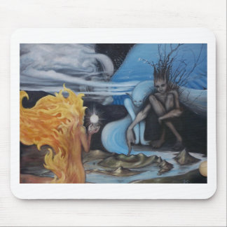 """creation"" original oil painting by Jon Rigby Mousepads"