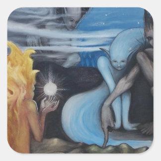 """creation"" original oil painting by Jon Rigby Sticker"