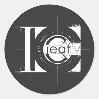 Creation Round Sticker