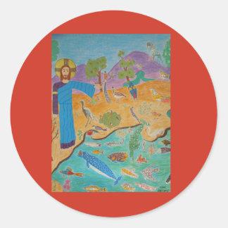 Creation: The Fifth Day Round Sticker