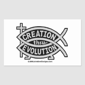 CREATION THRoUgh EVOLUTION Sticker