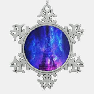 Creation's Heaven Paris Amethyst Dreams Pewter Snowflake Ornament