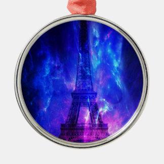 Creation's Heaven Paris Amethyst Dreams Silver-Colored Round Ornament