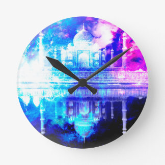 Creation's Heaven Taj Mahal Dreams Round Clock