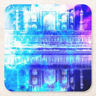 Creation's Heaven Taj Mahal Dreams Square Paper Coaster