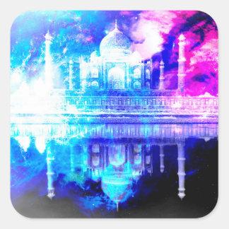 Creation's Heaven Taj Mahal Dreams Square Sticker
