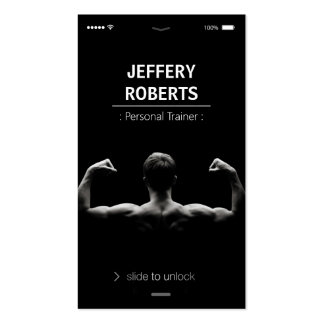 Creative and Unique Bodybuilder Personal Trainer Pack Of Standard Business Cards