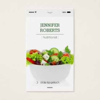 Creative and Unique Vegetables Food Nutritionist Business Card