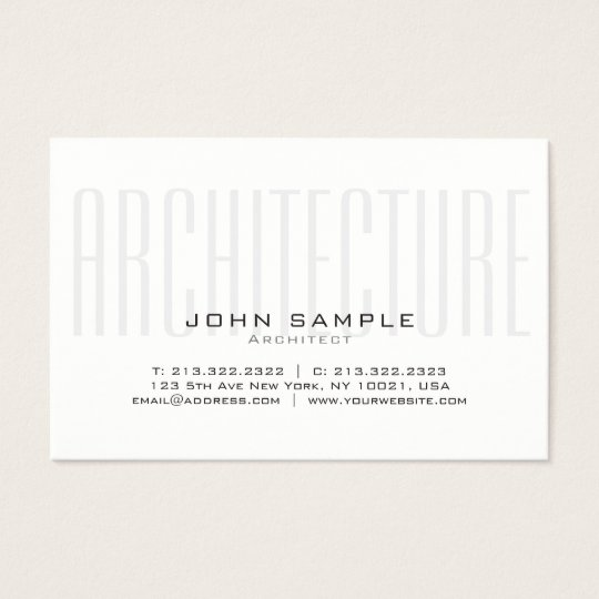 Creative Architecture Professional Silk Finish Business Card