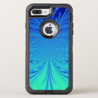 creative blue abstract OtterBox defender iPhone 7 plus case