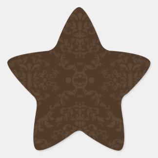 Creative brown floral gift star sticker