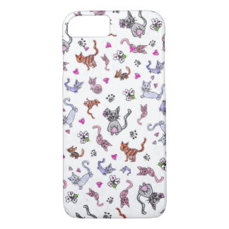 Creative Cats - A Colorful Pet-Lovers Pattern iPhone 7 Case