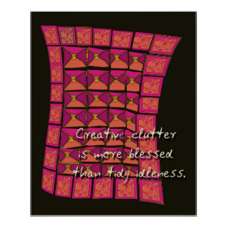 creative clutter poster