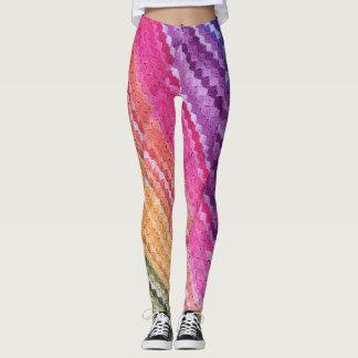 Creative Color Rainbow Quilt Design Leggings