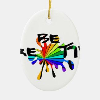 Creative colorful art ceramic ornament
