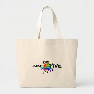 Creative colorful art large tote bag
