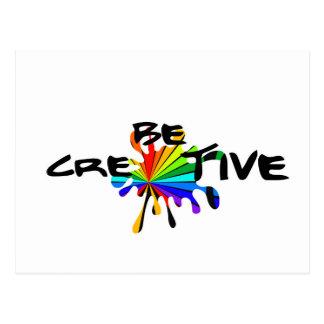 Creative colorful art postcard