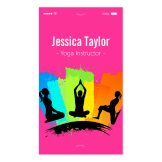 Creative Colourful YOGA Pilates Instructor Pack Of Standard Business Cards
